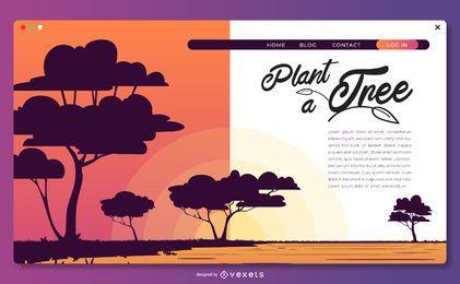Plante um modelo de página de destino de árvore