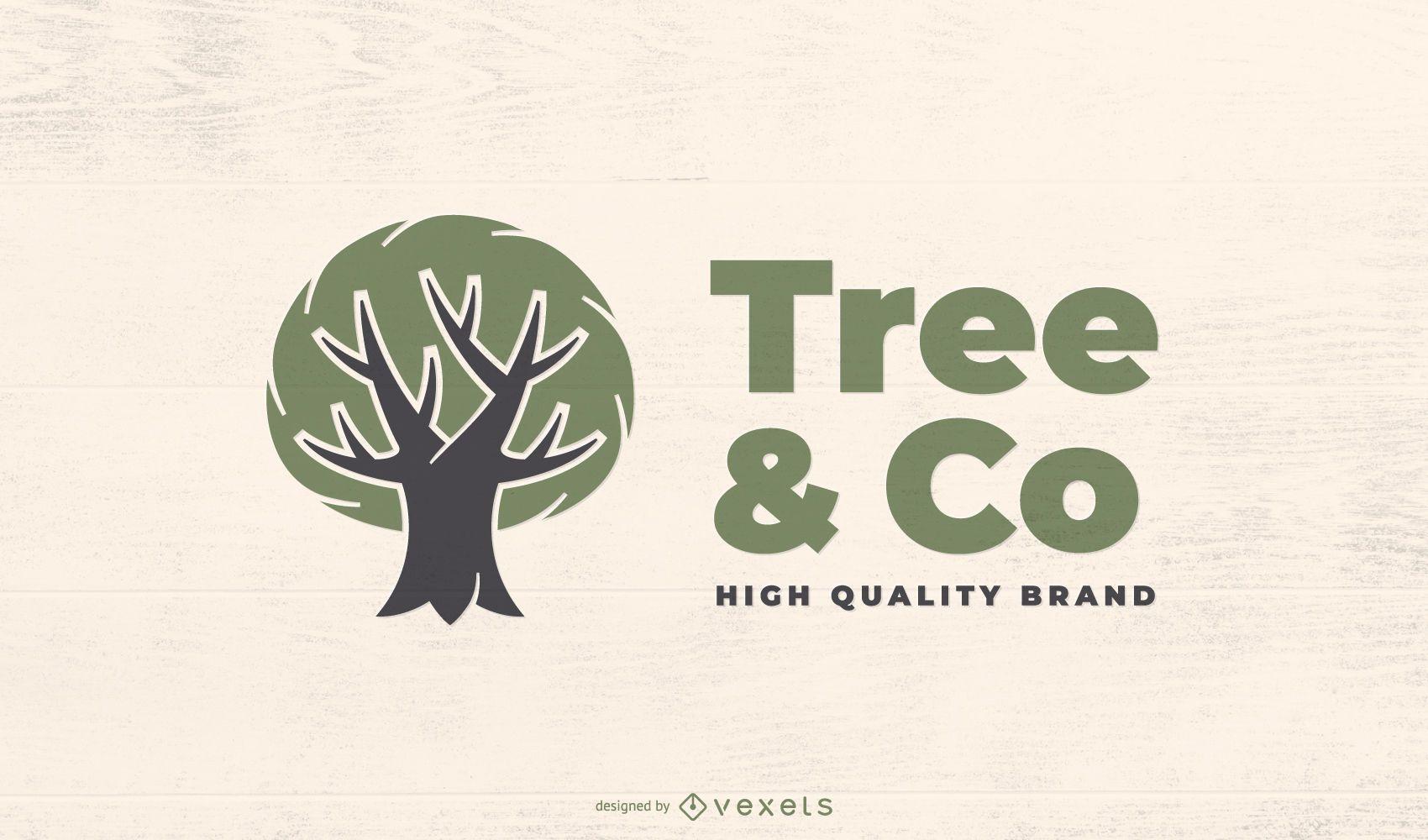 Eco green tree logo template