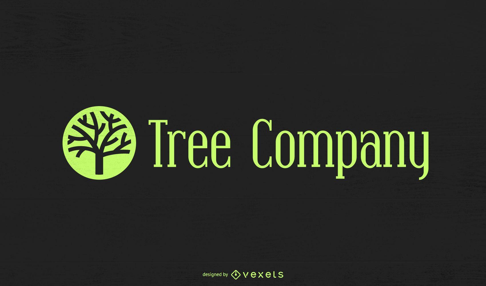 Modelo de logotipo de empresa de árvore