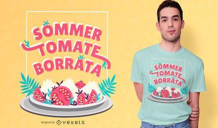Diseño de camiseta Sommer tomate burrata