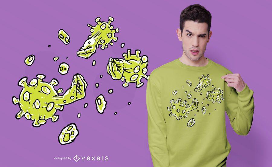Coronavirus Italian Hand T-shirt Design