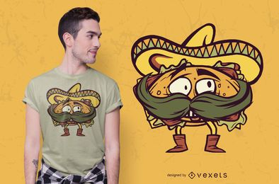 Design de t-shirt torta mexicana