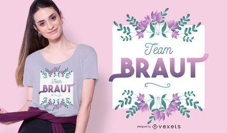 Diseño de camiseta del equipo braut