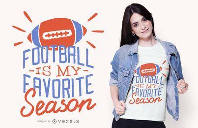 Design de camisetas para a temporada de futebol