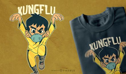 Design de camiseta Kungflu