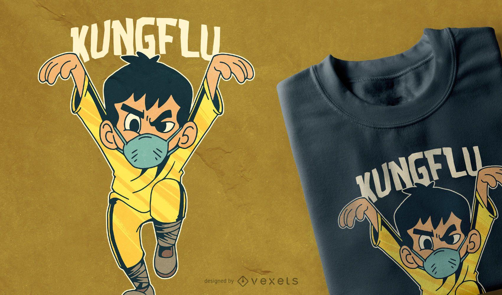 Kungflu t-shirt design