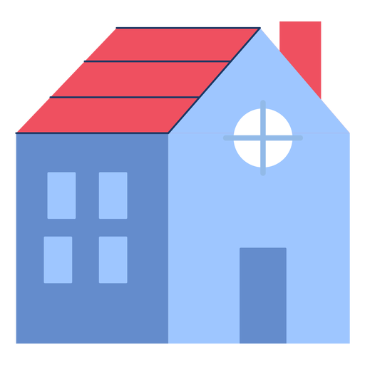 Building house red roof flat Transparent PNG