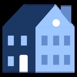 Edificio de dos pisos casa plana