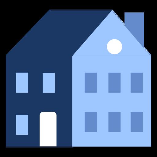 Edificio de dos pisos casa plana Transparent PNG