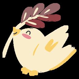 Carácter pájaro lindo color