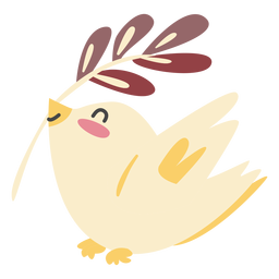 Character bird cute color