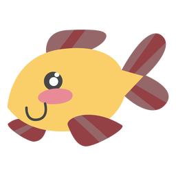 Character fish cute color