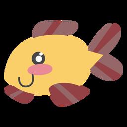 Personagem peixe bonito cor