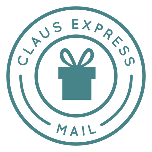 Christmas claus express lettering Transparent PNG