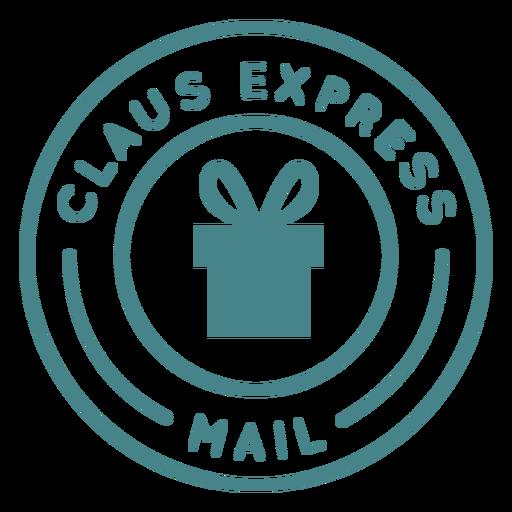 Letras de navidad claus express Transparent PNG
