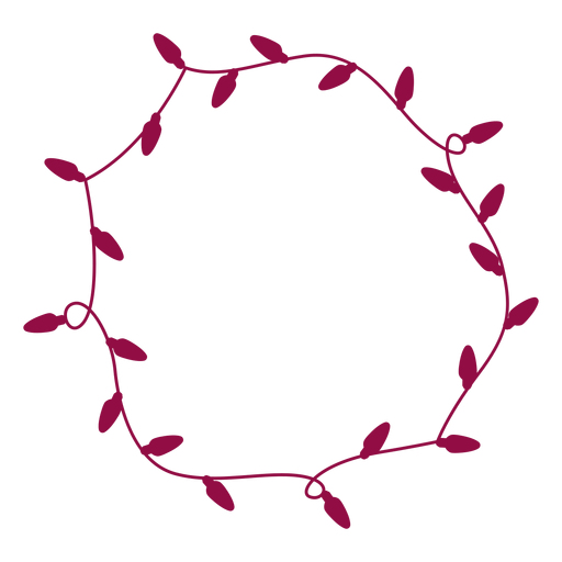 Christmas lights round Transparent PNG
