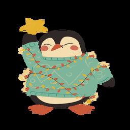 Pinguim de Natal plana
