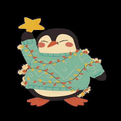 Christmas penguin flat