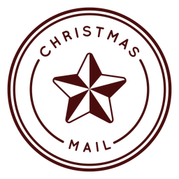 Christmas postage lettering chrismas mail