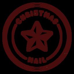 Franqueo de navidad letras chrismas mail
