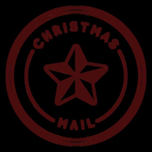 Christmas postage lettering chrismas mail Transparent PNG