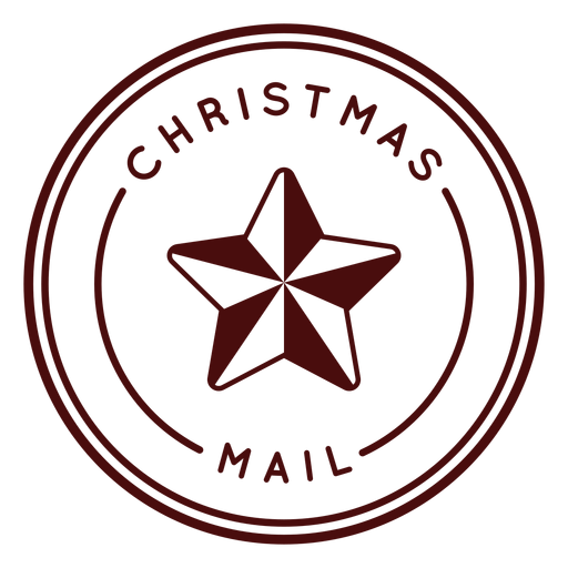 Franqueo de navidad letras chrismas mail Transparent PNG