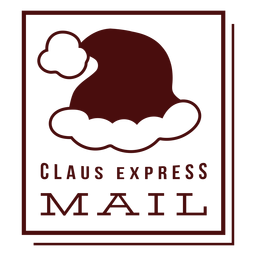 Christmas postage lettering claus express mail