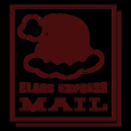 Franqueo de navidad letras claus correo urgente