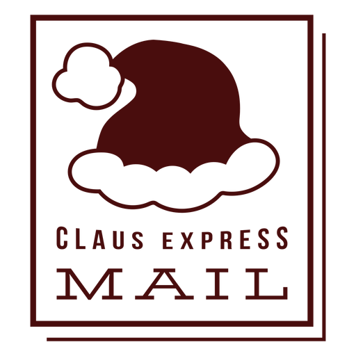 Christmas postage lettering claus express mail Transparent PNG
