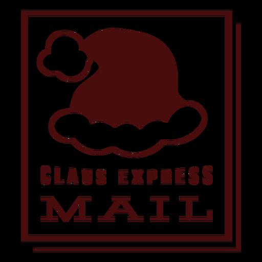 Postagem de natal letras claus correio expresso Transparent PNG
