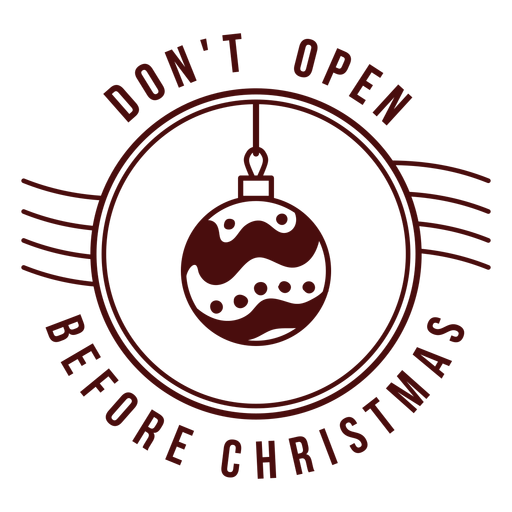 Christmas postage lettering do not open toy Transparent PNG