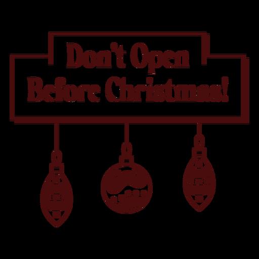 Letras de franqueo navideño no abrir juguetes