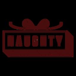 Franqueo de navidad letras travieso