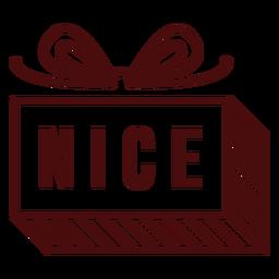 Letras de porte postal de Natal agradável