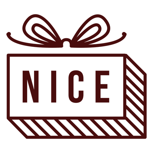 Christmas postage lettering nice Transparent PNG