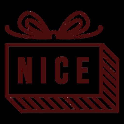 Letras de franqueo de Navidad agradable Transparent PNG