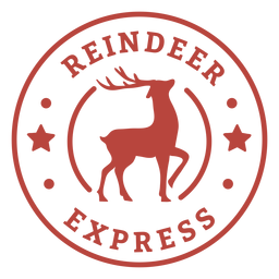 Christmas reindeer express lettering