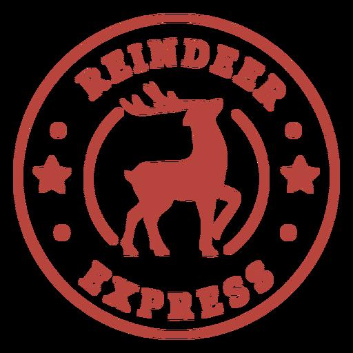 Christmas reindeer express lettering Transparent PNG
