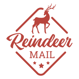 Christmas reindeer stamp lettering