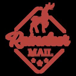 Letras de carimbo de rena de Natal