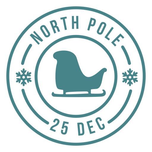 Letras de Navidad santa trineo sello Transparent PNG