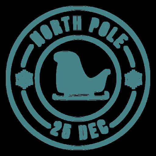 Letras de sello de Navidad santa trineo Transparent PNG