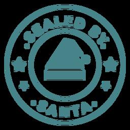 Christmas santa stamp lettering