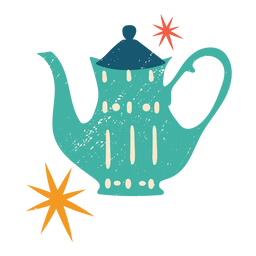 Christmas teapot flat color