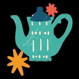 Weihnachten Teekanne flache Farbe