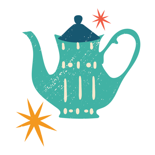 Christmas teapot flat color Transparent PNG