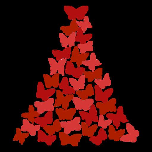 Borboletas da árvore de natal