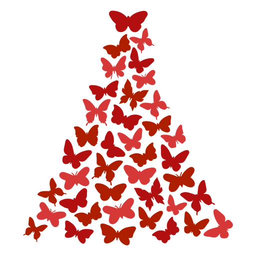Christmas tree butterflies Transparent PNG