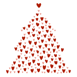 Christmas tree hearts