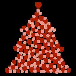Corações de árvore de natal